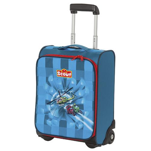 Kufřík na kolečkách Scout motiv vrtulník, Basic