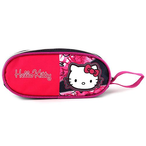 Školní penál Hello Kitty elipsovitý