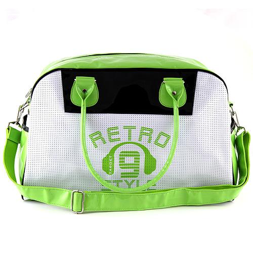 Cestovní taška Target zeleno-bílá