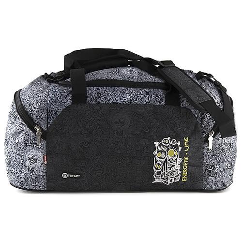 Cestovní taška Target černo-bílá