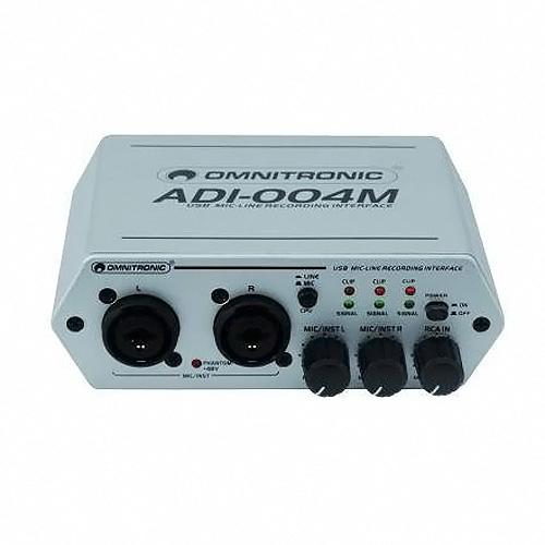 Mikrofonní předzesilovač Omnitronic Omnitronic ADI-004M Interface, zvuková karta