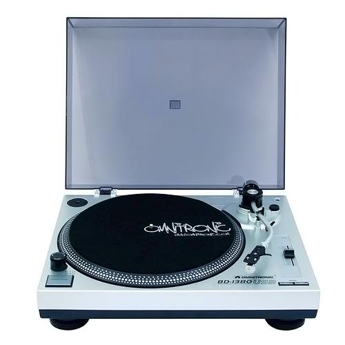 Gramofon Omnitronic Omnitronic BD-1380 USB, gramofon, stříbrný