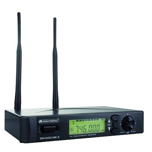 Bezdrátový přijímač Omnitronic Omnitronic DR-1000 MK2, bezdrátový přijímač UHF, doprava zdarma