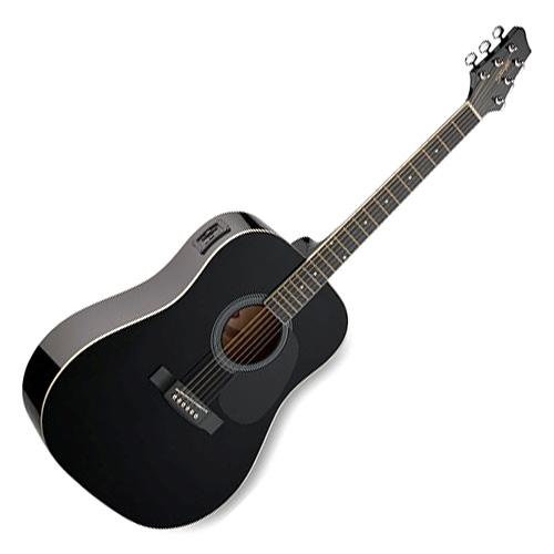 Elektro-akustická kytara Stagg Stagg SW201BK-VT, elektro-akustická kytara