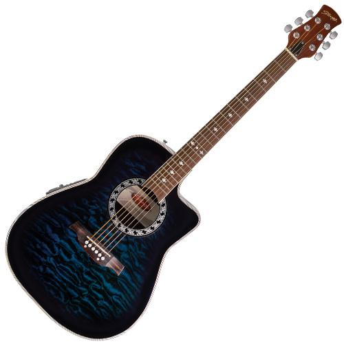 Elektro-akustická kytara Stagg typ Ovation, doprava zdarma