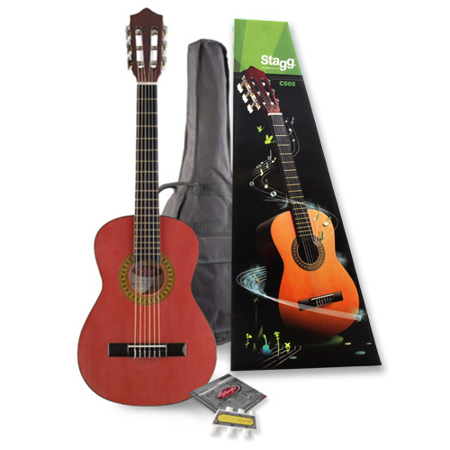Kytarová sada Stagg klasická kytara typu 1/4 s pouzdrem