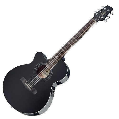 Elektro-akustická kytara Stagg levoruká, typ MiniJumbo