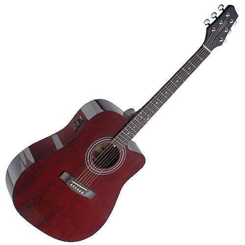 Elektro-akustická kytara Stagg typ Dreadnought