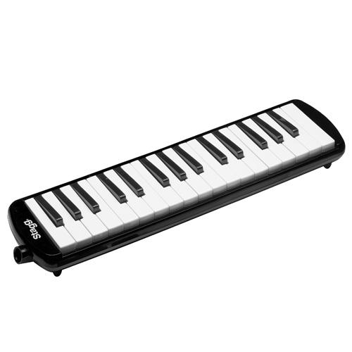 Klávesová harmonika Stagg Délka 41 cm/černá