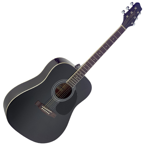 Akustická kytara Stagg černá