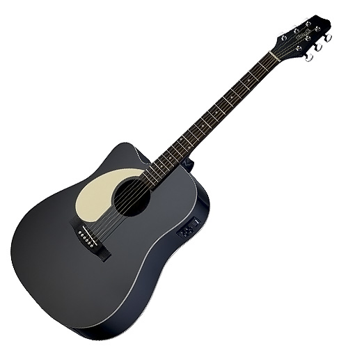 Elektro-akustická kytara Stagg levoruká, typu Dreadnought