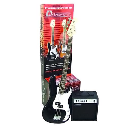 Kytarová sada Dimavery Dimavery Bass SET BK, sada basové kytary a příslušenství