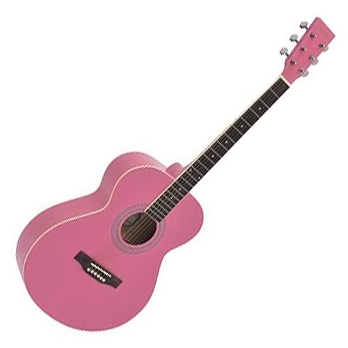 Akustická kytara Dimavery Růžová