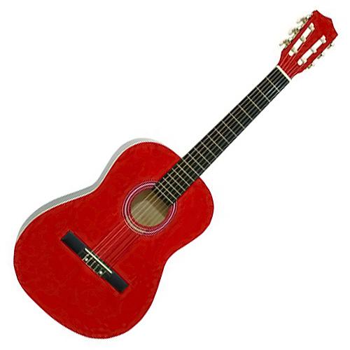 Klasická kytara Dimavery Dimavery AC-303 klasická kytara 3/4, červená