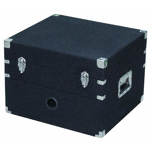 Transportní kufr Roadinger Case kombinovaný černý koberec, 4HE