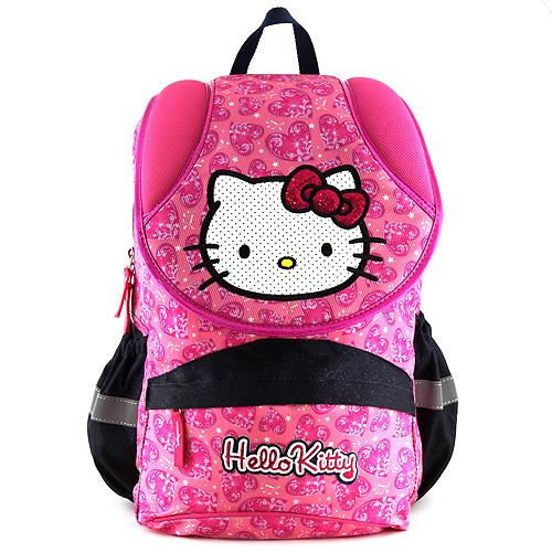 Školní batoh Hello Kitty růžový se srdíčky