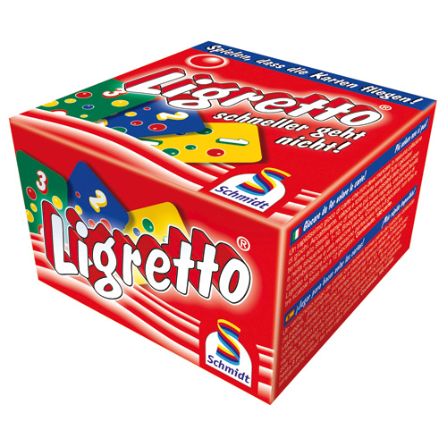 Karetní hra Ligretto Schmidt 160 karet, barva červená