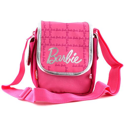 Kabelka přes rameno Barbie růžovo/stříbrná, s nápisem Barbie