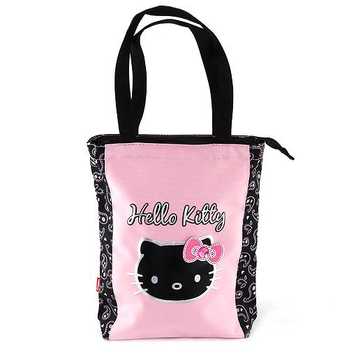 Nákupní taška Hello Kitty černo/růžová, s motivem Hello Kitty