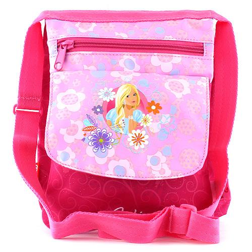 Kabelka přes rameno Barbie růžová, s potiskem panenky Barbie