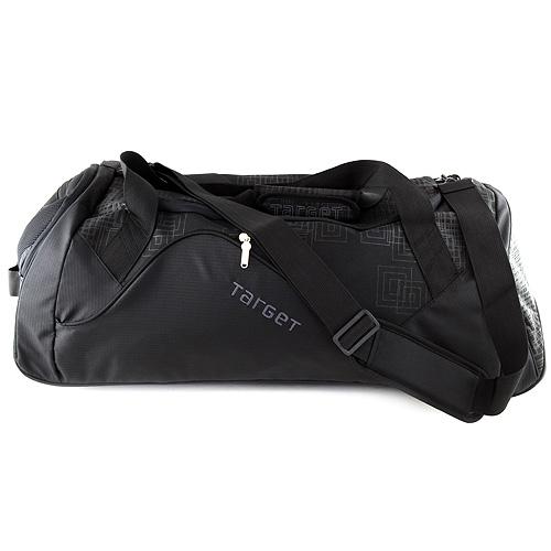 Cestovní taška Target černá s šedými ornamenty, na kolečkách, doprava zdarma