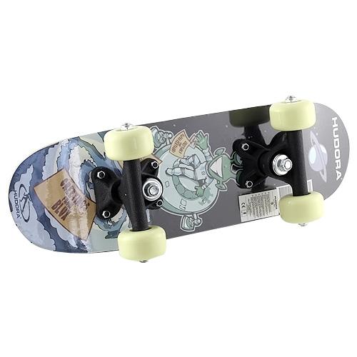 Mini skateboard Hudora motiv ufouna a talíře, 42,5 x 12,5 cm
