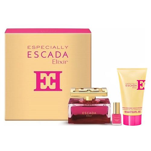 Luxusní dárková sada Escada Especially Elixir - parfémová voda v rozprašovači 75 ml, těl