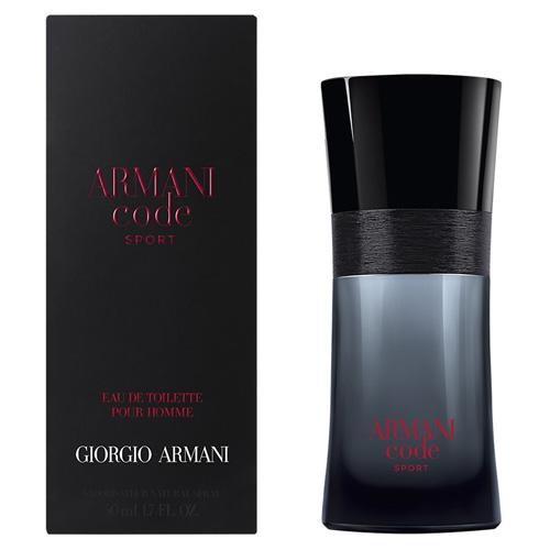 Toaletní voda pro muže s rozprašovačem Giorgio Armani Armani Code Sport, 50 ml
