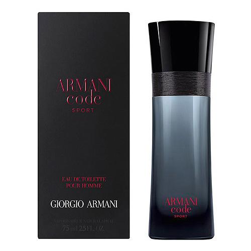 Toaletní voda pro muže s rozprašovačem Giorgio Armani Armani Code Sport, 75 ml