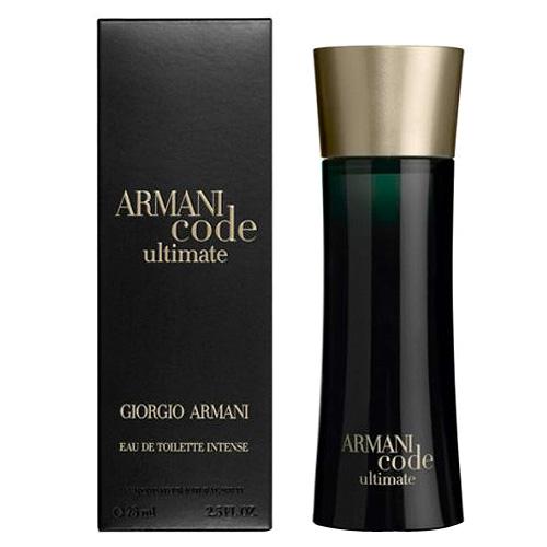 Toaletní voda pro muže s rozprašovačem Giorgio Armani Armani Code Ultimate Intense, 75 ml