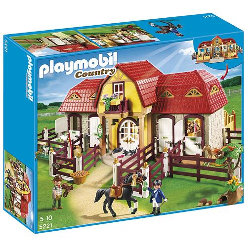 Velká koňská farma Playmobil Velká koňská farma s výběhem