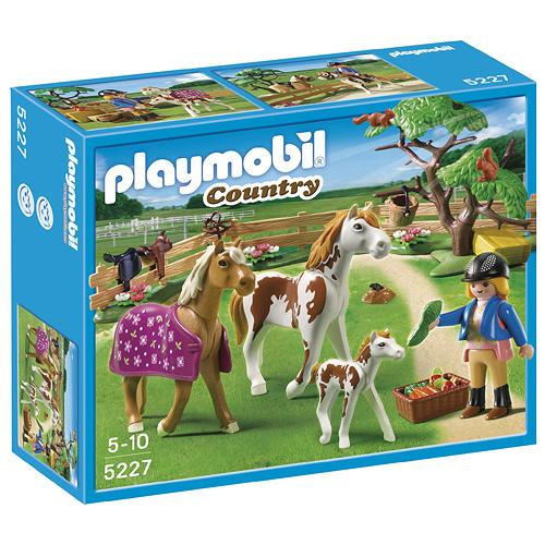 Výběh pro koníky Playmobil panáček s koníky, 50 dílků
