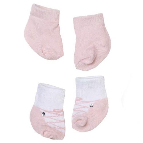 Ponožky pro panenku Zapf 2 páry - světle růžové