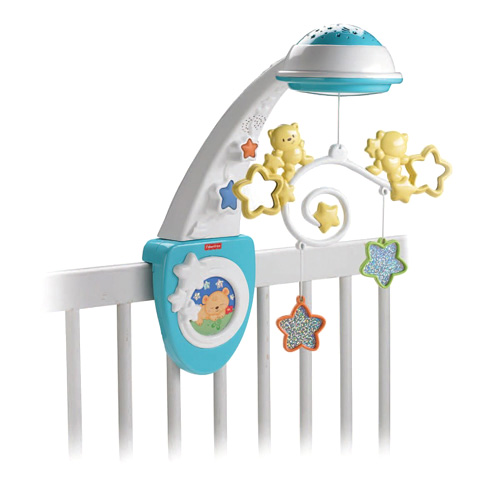Dětský kolotoč Mattel S hvězdičkami, modro/bílý