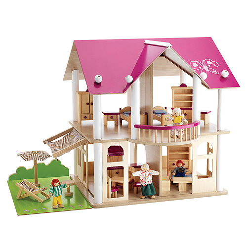Dřevěná vila Simba Pro panenky, 87 dílů
