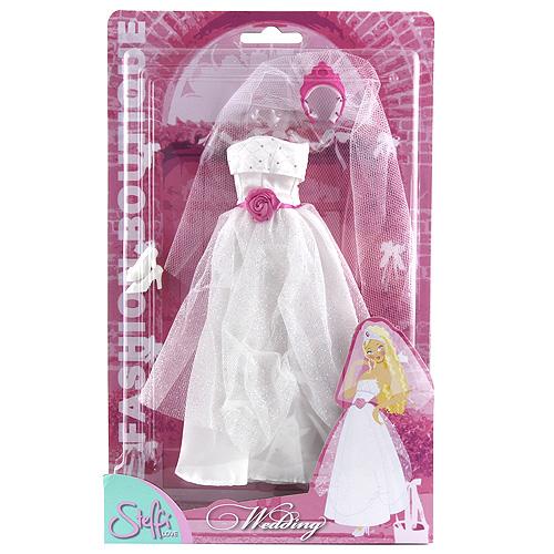 Šaty pro Steffi Simba Romantic World - bílé, svatební