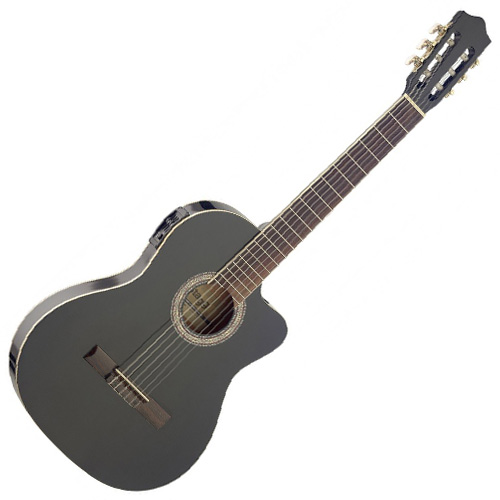 Elektro-akustická kytara Stagg C546TCEBK