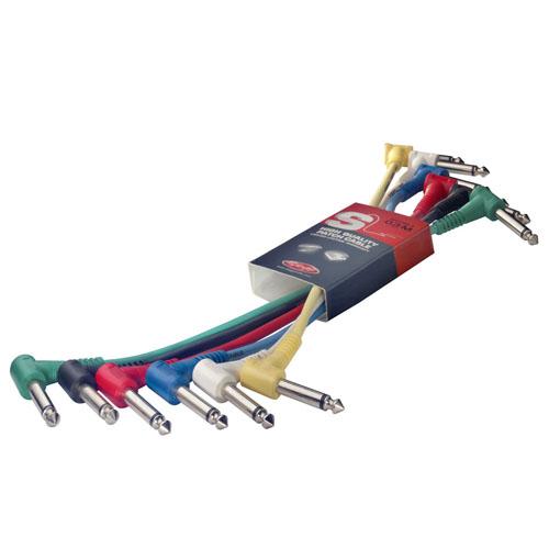 Propojovací kabely Stagg 6 ks x 8 cm