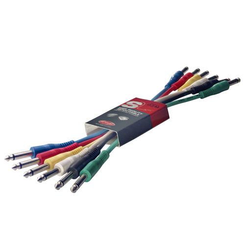 Propojovací kabely Stagg 6 ks x 0,6 m
