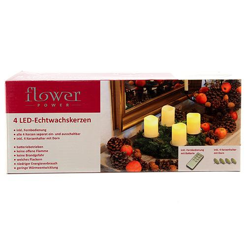 Svíčky Idena LED, 4 ks
