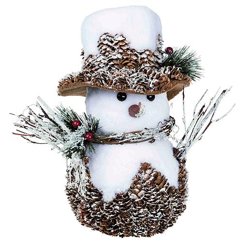 Dekorační sněhulák Idena rozměr 26 x 25 x 18 cm