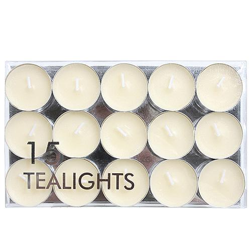 Svíčky čajové Village Candle Slonovinově bílé, 15 ks