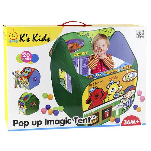 Dětský stan s míčky K´s Kids 20 ks plastových míčků