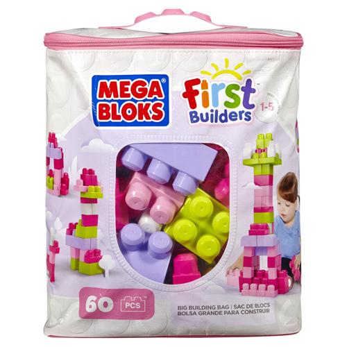 Kostky Mega Bloks 60 ks - stavební kostky, růžová
