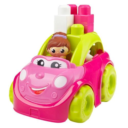 Růžový kabriolet Mega Bloks Catie - auto se stahovací střechou