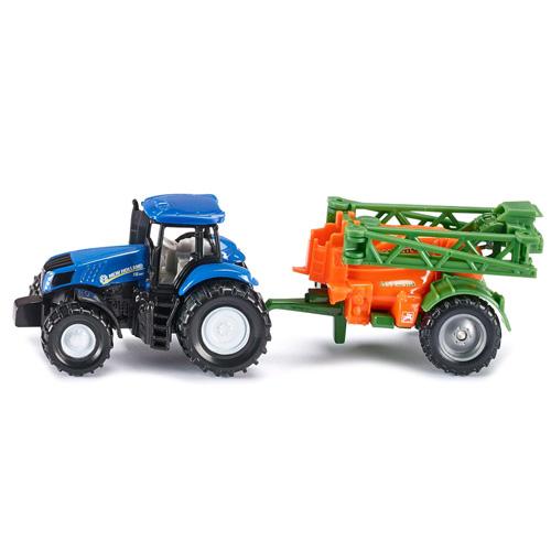 Traktor s přívěsem SIKU S přívěsem na rozprašování hnojiva