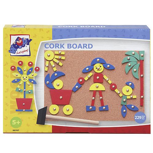 Deska s přibíjecími tvary Woody Korková - 24,4 x 17,5 cm