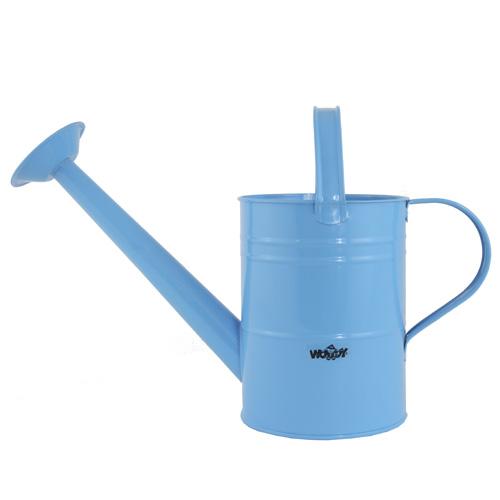 Zahradní konev Woody Modrá - kovová s kropítkem