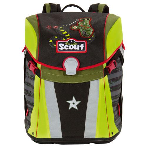 Školní batoh Scout Sunny, motiv Ninja a had