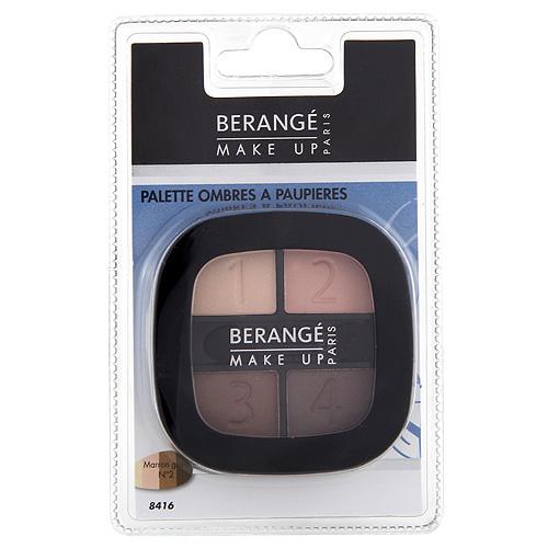 Oční stíny Berangé Paris 4 odstíny hnědé, 4,8 g